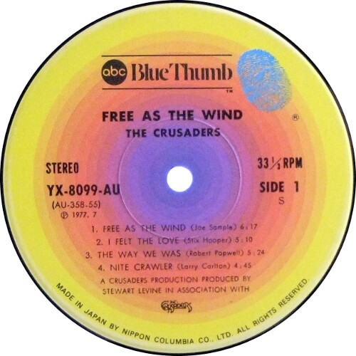 Free As The Wind = 旋風に舞う