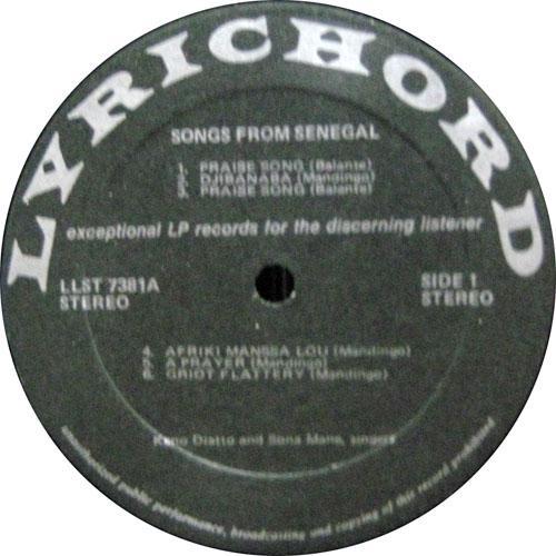 Songs from Senegal