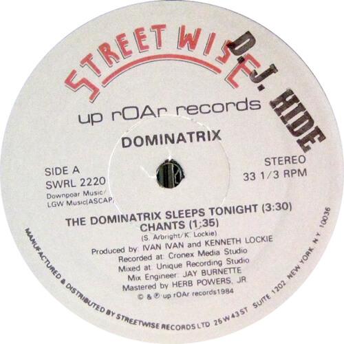 The Dominatrix Sleeps Tonight